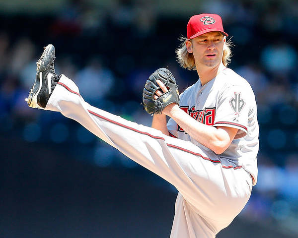 American League Baseball Poster featuring the photograph Bronson Arroyo by Mike Stobe