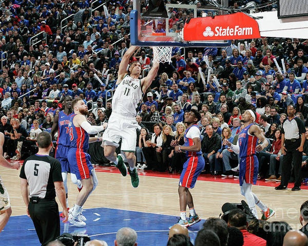 Playoffs Poster featuring the photograph Brook Lopez by Brian Sevald