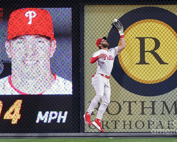 People Poster featuring the photograph Bryce Harper by Drew Hallowell