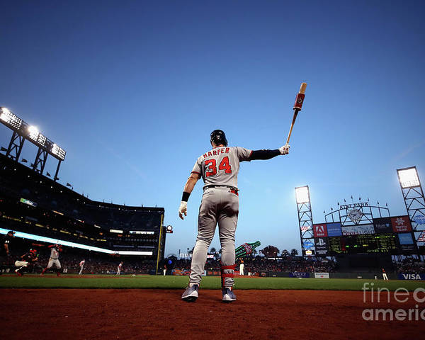 San Francisco Poster featuring the photograph Bryce Harper by Ezra Shaw