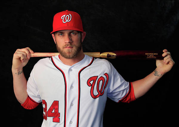 Media Day Poster featuring the photograph Bryce Harper by Rob Carr