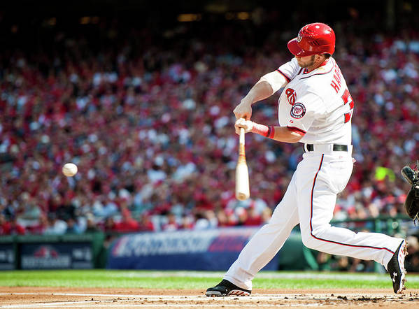 St. Louis Cardinals Poster featuring the photograph Bryce Harper by Rob Tringali