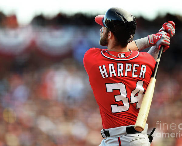 San Francisco Poster featuring the photograph Bryce Harper by Thearon W. Henderson