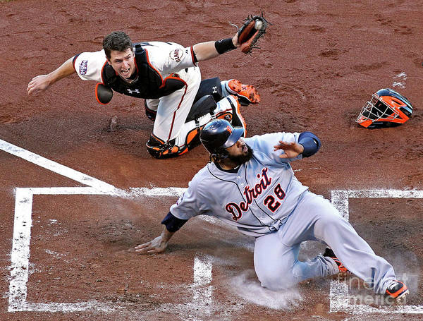 Game Two Poster featuring the photograph Buster Posey and Prince Fielder by Christian Petersen