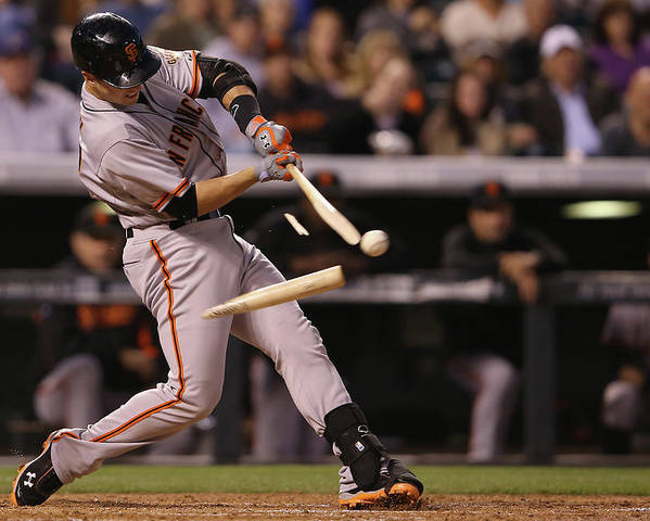 Double Play Poster featuring the photograph Buster Posey by Doug Pensinger