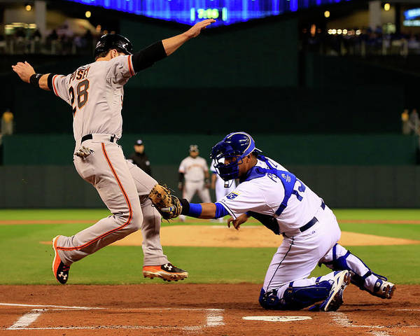 Salvador Perez Diaz Poster featuring the photograph Buster Posey by Jamie Squire