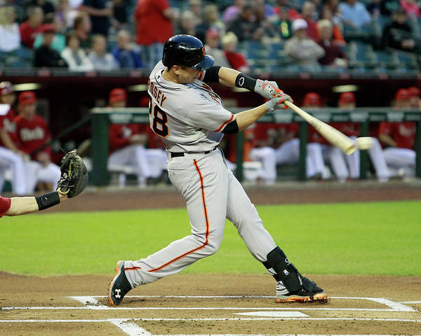 American League Baseball Poster featuring the photograph Buster Posey by Ralph Freso