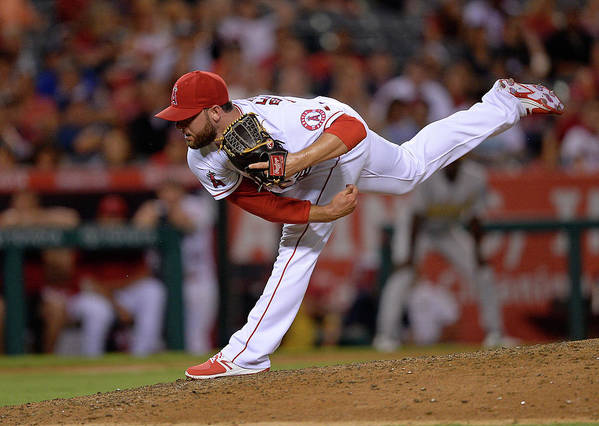 Ninth Inning Poster featuring the photograph Cam Bedrosian by Kevork Djansezian