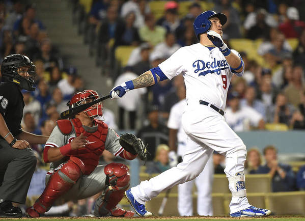 People Poster featuring the photograph Carlos Ruiz and Yasmani Grandal by Harry How