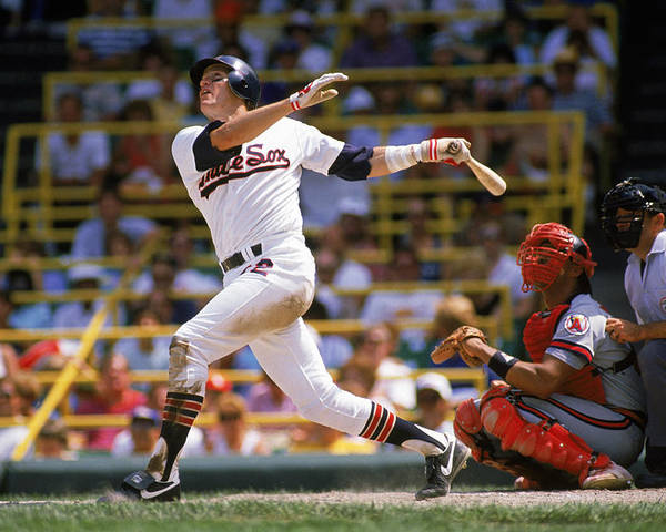 1980-1989 Poster featuring the photograph Carlton Fisk by Jonathan Daniel