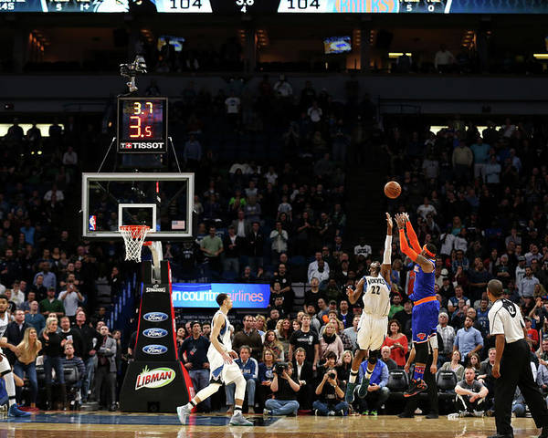 Nba Pro Basketball Poster featuring the photograph Carmelo Anthony by Jordan Johnson