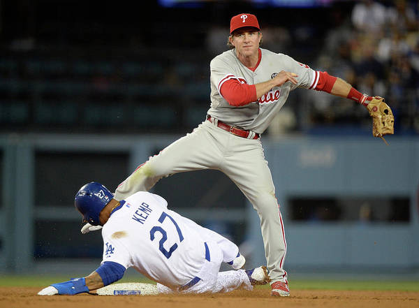 Second Inning Poster featuring the photograph Chase Utley and Matt Kemp by Harry How