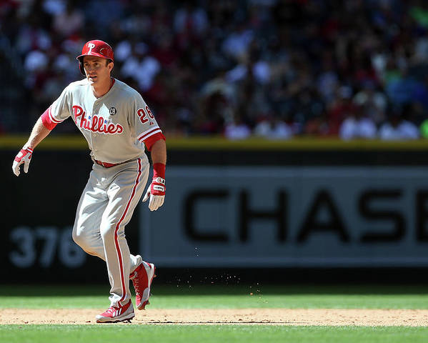 2nd Base Poster featuring the photograph Chase Utley by Christian Petersen