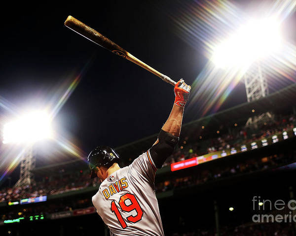 American League Baseball Poster featuring the photograph Chris Davis by Adam Glanzman