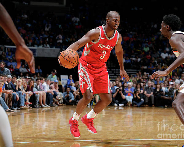 Nba Pro Basketball Poster featuring the photograph Chris Paul by Shane Bevel