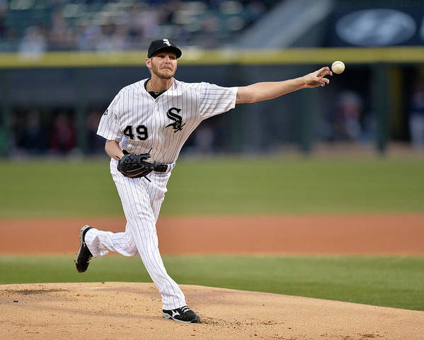 American League Baseball Poster featuring the photograph Chris Sale by Brian Kersey