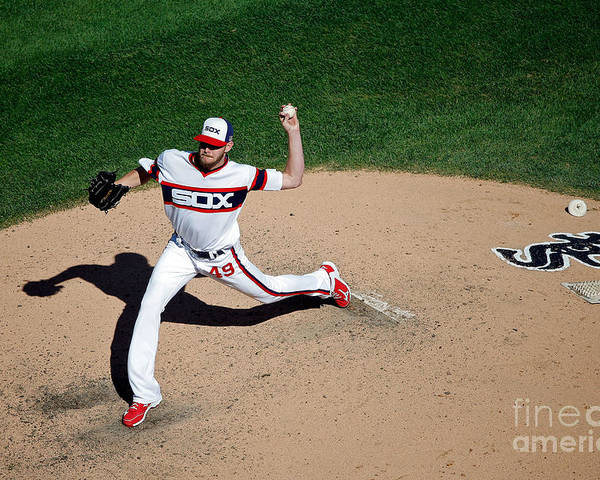 People Poster featuring the photograph Chris Sale by Jon Durr