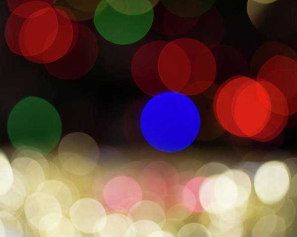 Ball Poster featuring the photograph Christmas Bokeh by Ognian Setchanov