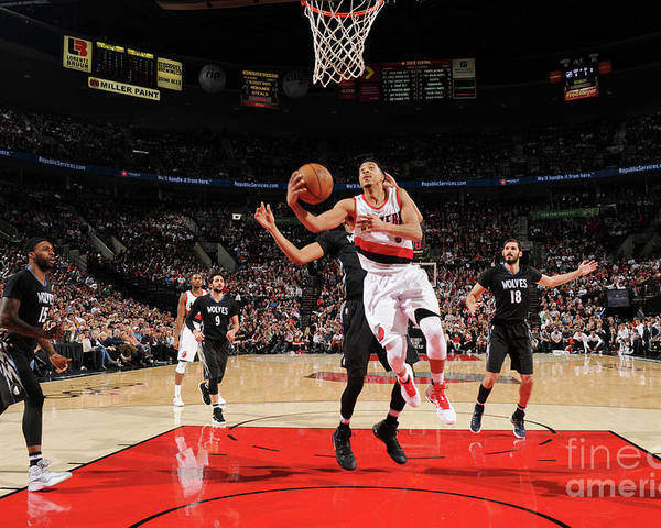 Nba Pro Basketball Poster featuring the photograph C.j. Mccollum by Cameron Browne