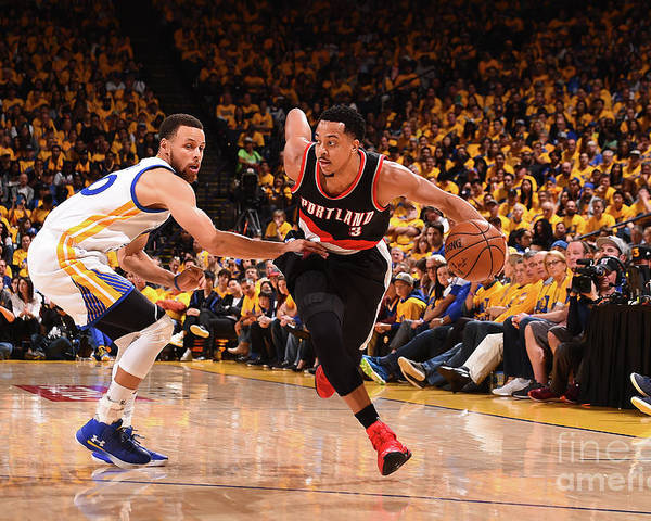 Playoffs Poster featuring the photograph C.j. Mccollum by Noah Graham