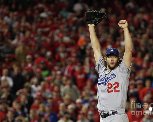 Three Quarter Length Poster featuring the photograph Clayton Kershaw by Patrick Smith