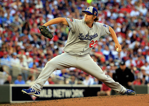 Clayton Kershaw Poster featuring the photograph Clayton Kershaw by Rob Carr