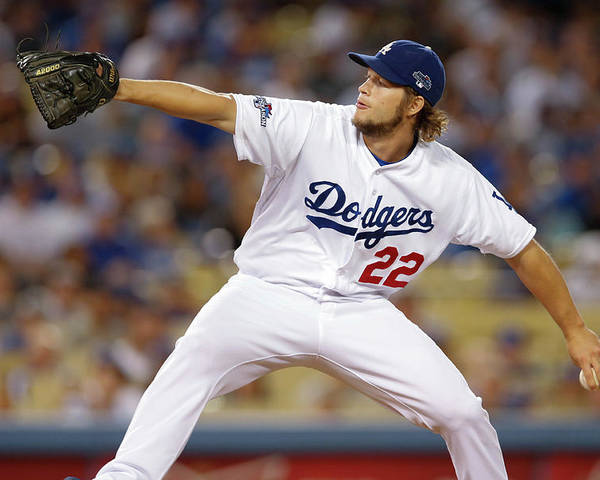 Playoffs Poster featuring the photograph Clayton Kershaw by Rob Leiter