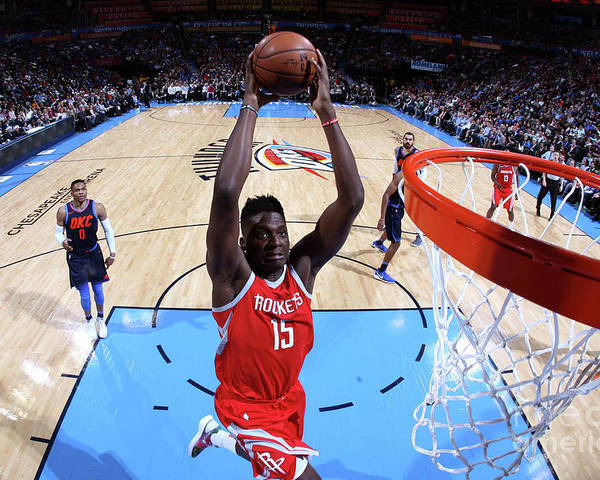 Nba Pro Basketball Poster featuring the photograph Clint Capela by Layne Murdoch