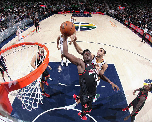 Nba Pro Basketball Poster featuring the photograph Clint Capela by Melissa Majchrzak