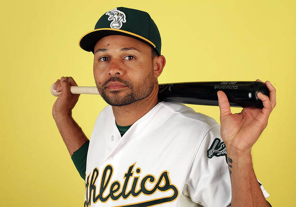 Media Day Poster featuring the photograph Coco Crisp by Christian Petersen