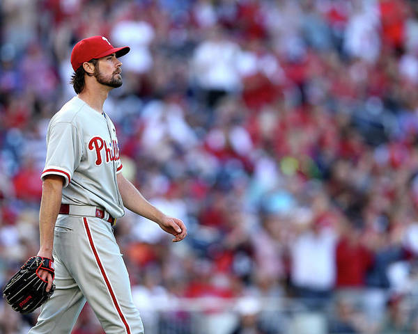 Three Quarter Length Poster featuring the photograph Cole Hamels by Patrick Smith