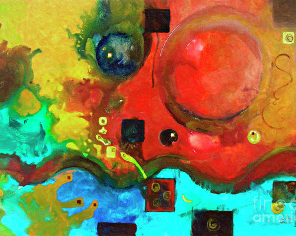 Original Abstract Painting Poster featuring the painting Come Back To Me by Sally Trace