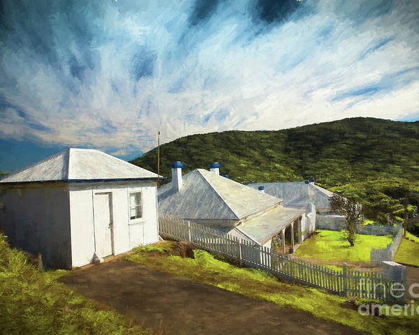 Painterly Image Poster featuring the photograph Cottages at Smoky Cape, Rembrandt style by Sheila Smart Fine Art Photography