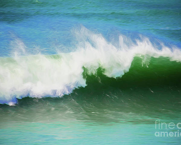 Surf Poster featuring the photograph Crashing surf by Sheila Smart Fine Art Photography