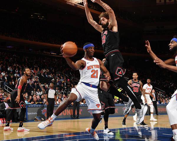 Nba Pro Basketball Poster featuring the photograph Damyean Dotson by Jesse D. Garrabrant