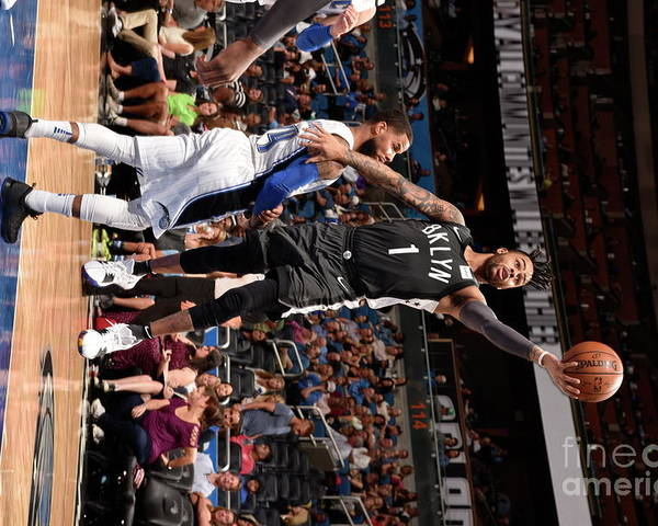 Nba Pro Basketball Poster featuring the photograph D'angelo Russell by Gary Bassing