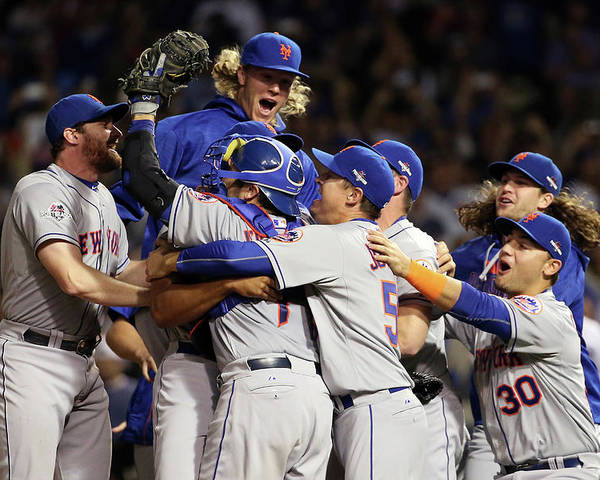 People Poster featuring the photograph Daniel Murphy and Noah Syndergaard by Jonathan Daniel