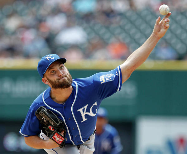 American League Baseball Poster featuring the photograph Danny Duffy by Duane Burleson