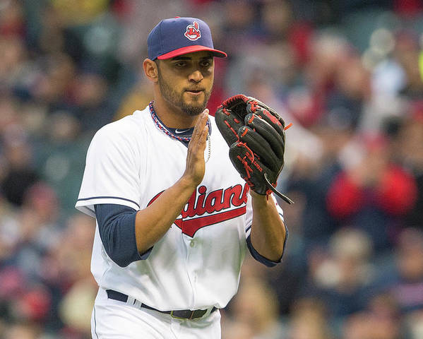 American League Baseball Poster featuring the photograph Danny Salazar by Jason Miller