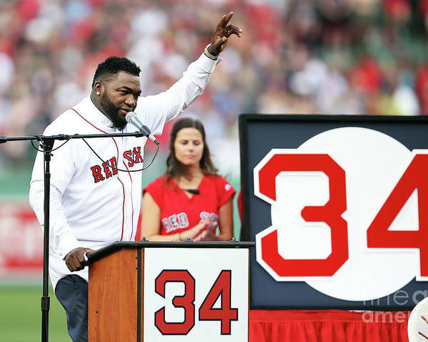 People Poster featuring the photograph David Ortiz by Adam Glanzman