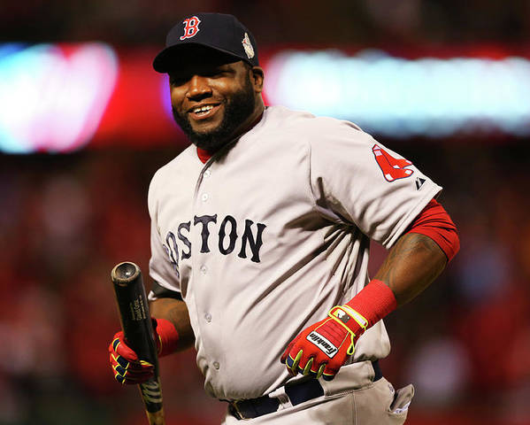 American League Baseball Poster featuring the photograph David Ortiz by Ronald Martinez