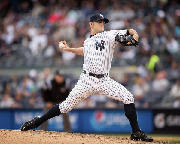 American League Baseball Poster featuring the photograph David Robertson by Rob Tringali