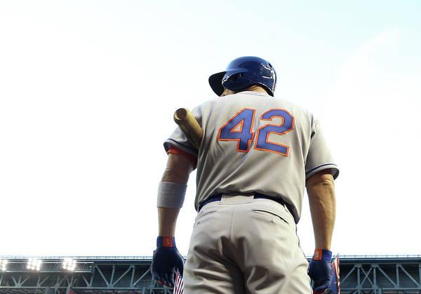 Baseball Uniform Poster featuring the photograph David Wright by Christian Petersen