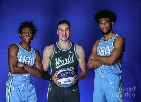 Nba Pro Basketball Poster featuring the photograph De'aaron Fox by Michael J. Lebrecht Ii