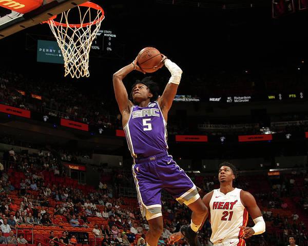 Nba Pro Basketball Poster featuring the photograph De'aaron Fox by Oscar Baldizon