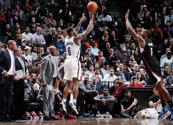 Nba Pro Basketball Poster featuring the photograph Deandre Jordan and Sean Kilpatrick by Nathaniel S. Butler