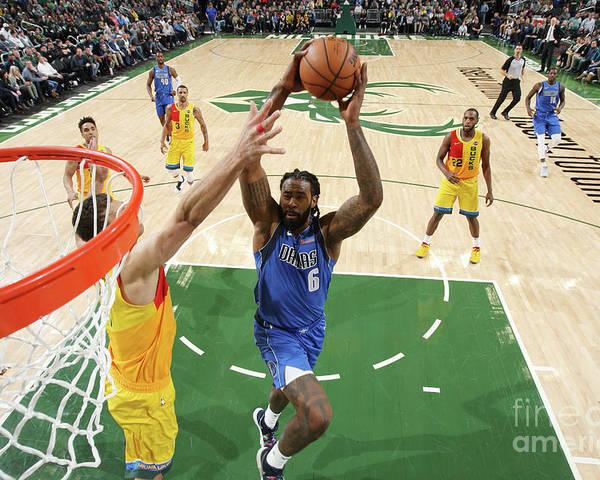 Nba Pro Basketball Poster featuring the photograph Deandre Jordan by Gary Dineen