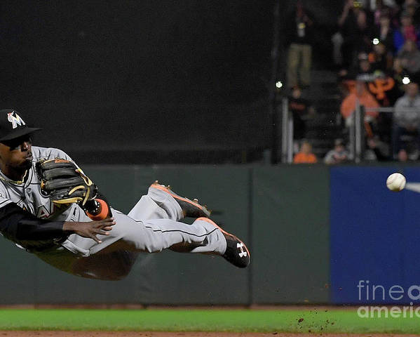 San Francisco Poster featuring the photograph Dee Gordon and Brandon Crawford by Thearon W. Henderson