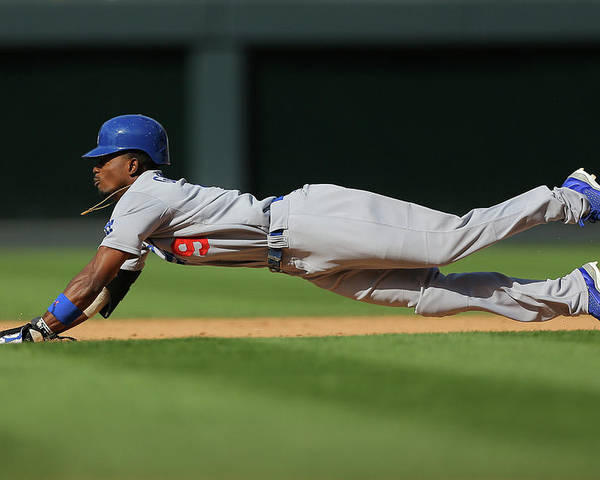 Los Angeles Dodgers Poster featuring the photograph Dee Gordon by Justin Edmonds