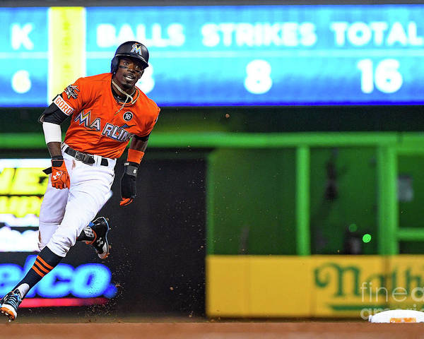 People Poster featuring the photograph Dee Gordon by Mark Brown